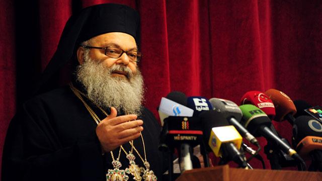 SYRIA-CHRISTIANS-PATRIARCH-YAZIGI